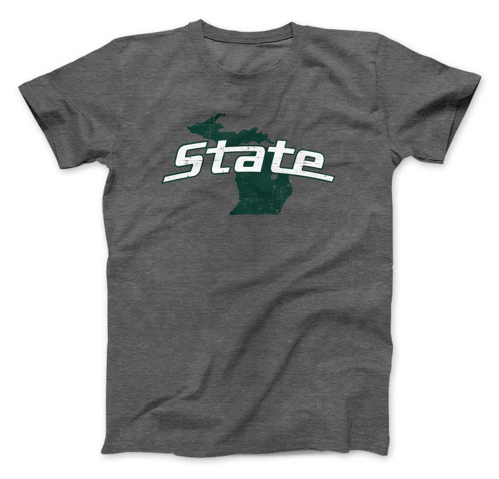Michigan State Spartans State on State of Michigan T-Shirt