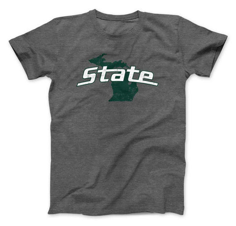 Michigan State University on State of Michigan T-shirt