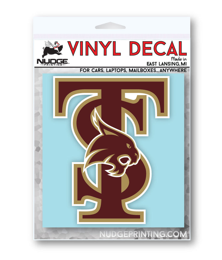 Texas State University TS Logo Vinyl Car Decal Sticker - Nudge Printing