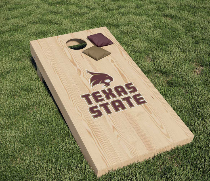 Texas State University Bobcats Corn Hole DIY Sticker Decal Sticker Set - Nudge Printing
