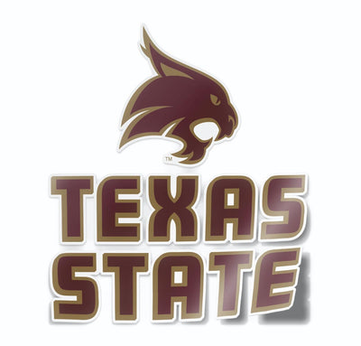 Texas State University Logo Vinyl Car Decal Sticker - Nudge Printing