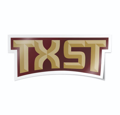 Texas State University TXST Script Vinyl Car Decal Sticker - Nudge Printing