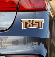Texas State University TXST Car Decal - Nudge Printing