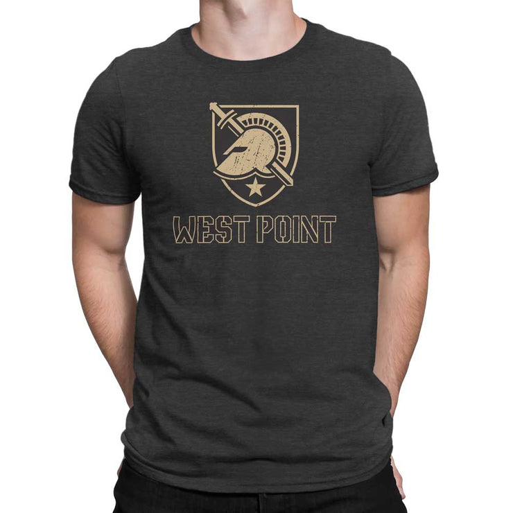 US Military Academy Army West Point Black Knights with Wordmark T-Shirt - Nudge Printing