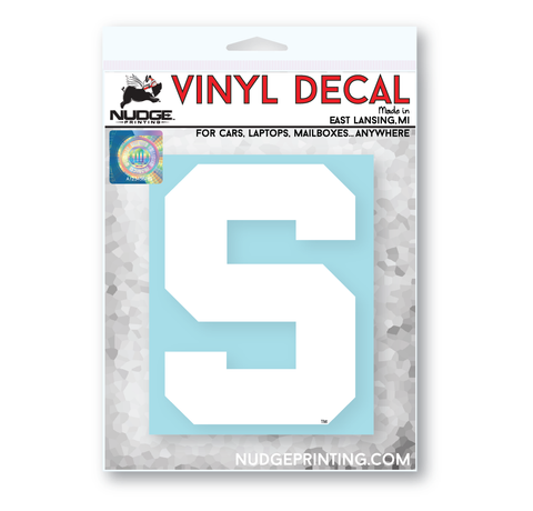 "Michigan State Block ""S"" Vinyl Decal Sticker"
