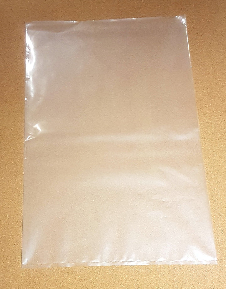 "One empty ASB 16 x 24"" Clear Polypropylene Bag"