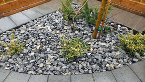 40mm(1.57 inch) Charcoal Grey Reclaimed River Limestone