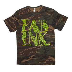 'FAB INK LOGO' Greeneon / Camo T-Shirt
