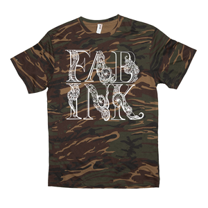 'FAB INK LOGO' T-Shirt White/Camo