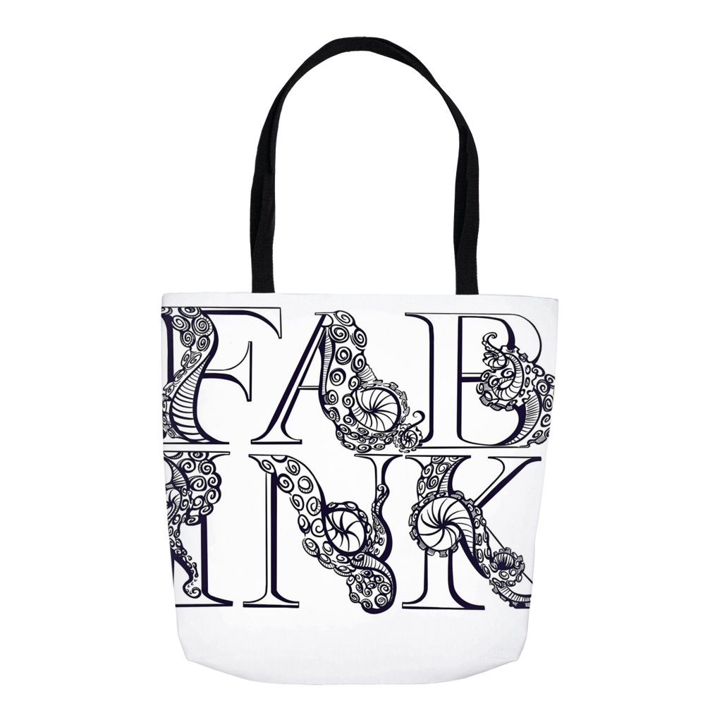 'Fab Ink' Logo Tote Bag