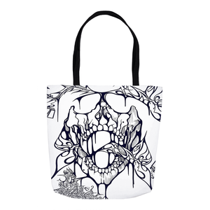 'Vapors' Tote Bag White