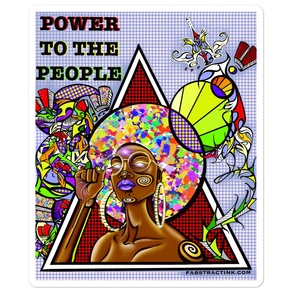 'POWER TO THE PEOPLE' Bubble-free Vinyl Sticker