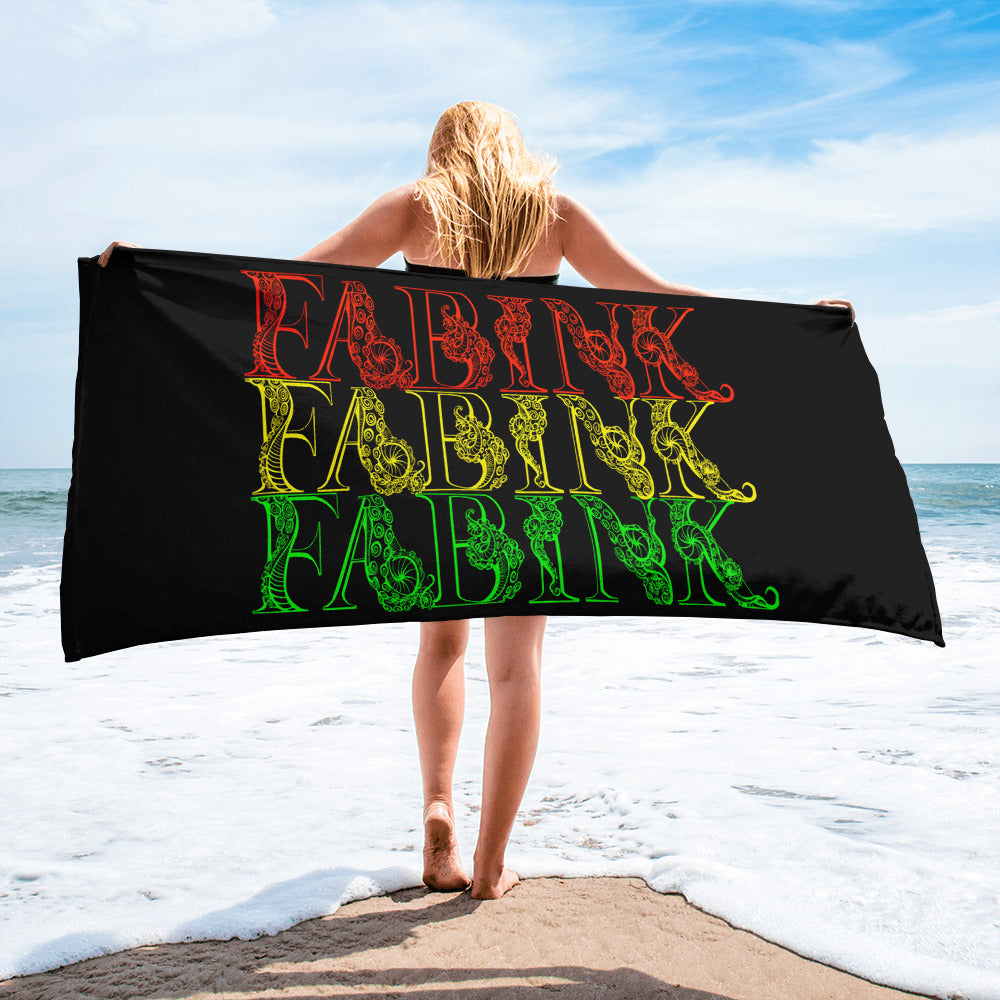 'Fab Ink Roots' Beach Towel