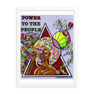'POWER TO THE PEOPLE' Framed posters