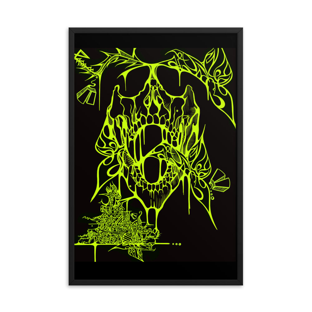 'VAPORS' (Greeneon) Framed posters