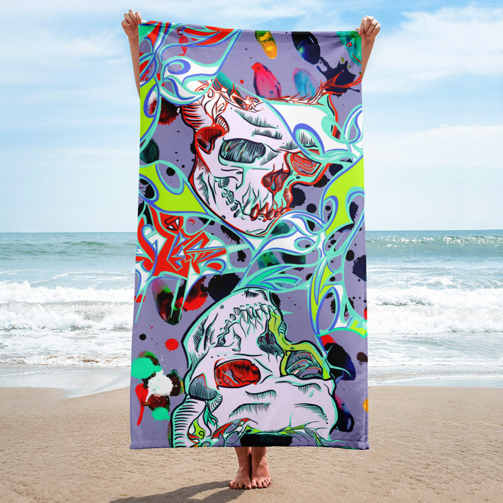 'Joker's Wild' Beach Towel