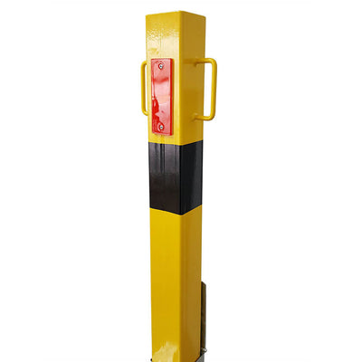 140-y Yellow removable bollard