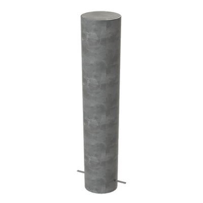 168mm diameter steel bollard in a Galvanised finish