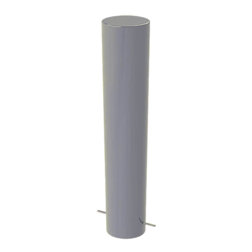 168mm diameter steel bollard in Silver