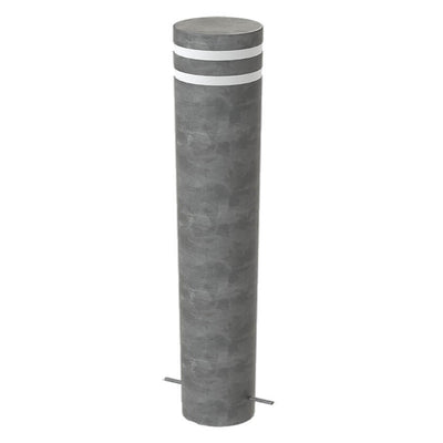 Twin groove 168mm diameter bollard in a Galvanised finish