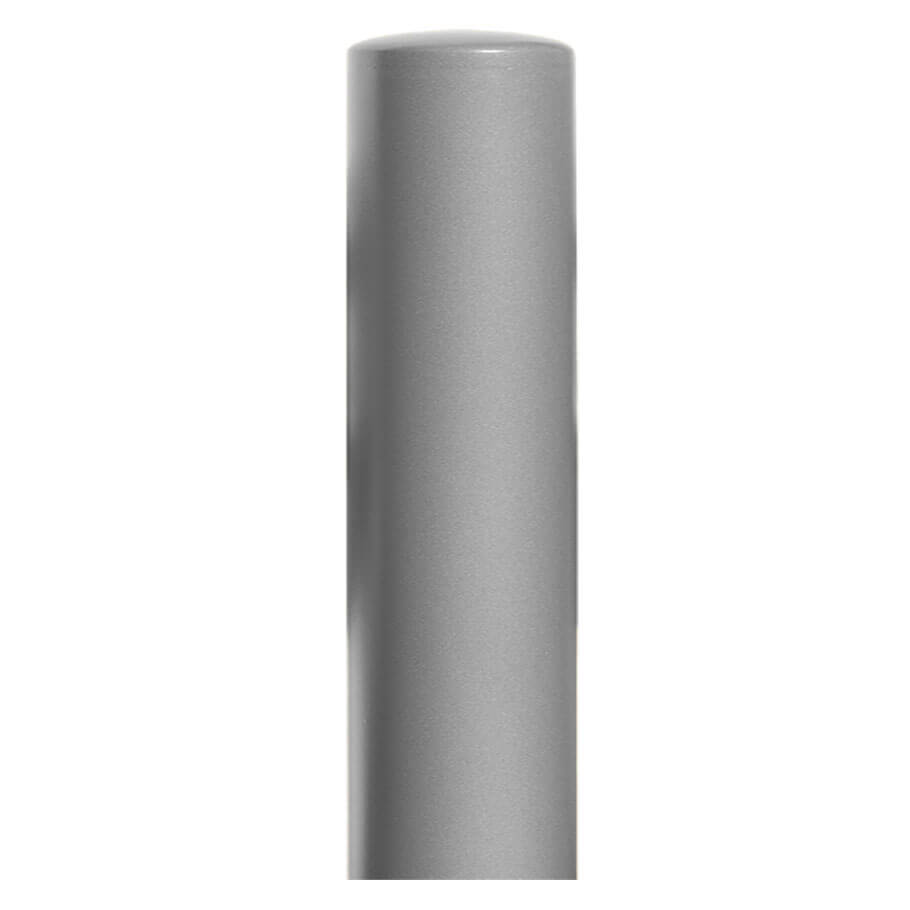 270mm diameter steel bollard in a silver powder coated finish