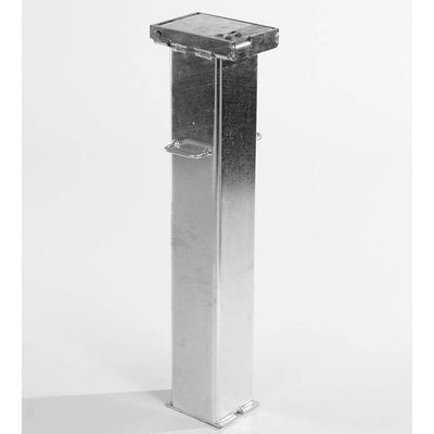 Retracta-post stainless steel lift assisted telescopic bollard outer casing