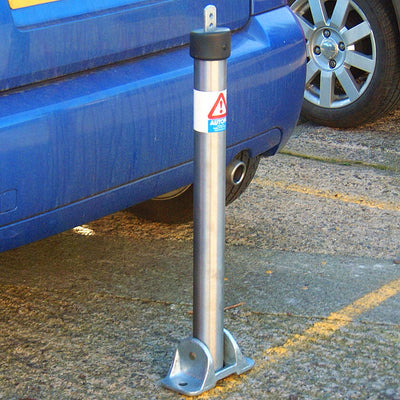 Top Lock fold down parking post in a 304 grade stainless steel finish