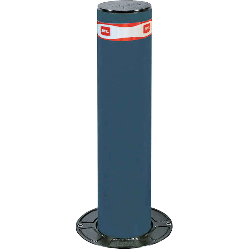 Easy-B 115 x 500 semi automatic rising bollard in graphite grey.