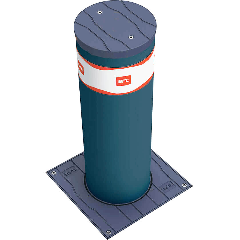 Easy-B 220 x 700 semi automatic rising bollard in graphite grey.