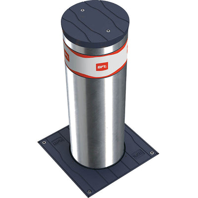 Easy-B 700 x 220 semi automatic rising bollard in stainless steel.