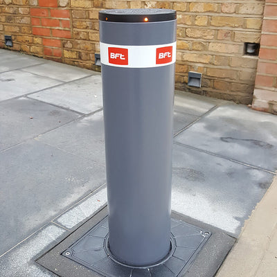 BFT - Easy 700 electro mechanical automatic rising bollard in graphite grey.