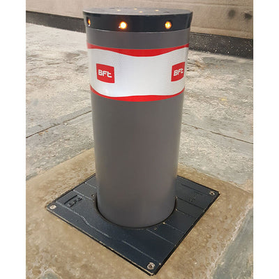 BFT - MBB 500 automatic rising bollard in graphite grey.