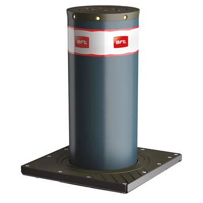 BFT MBB 500 Automatic rising bollard in graphite grey.