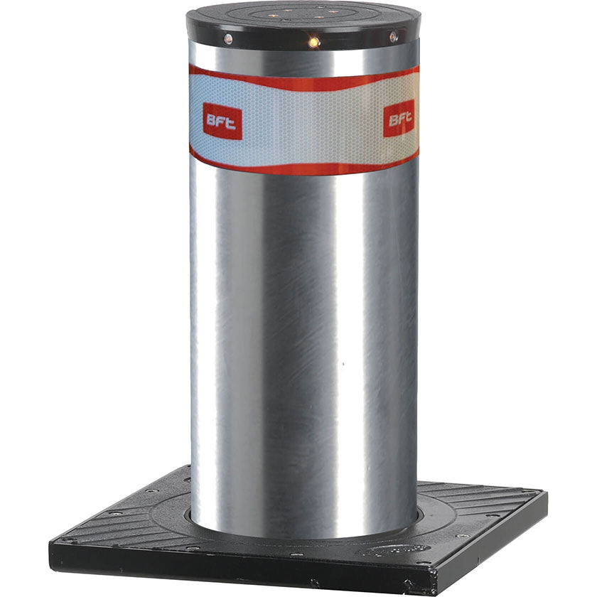 BFT - MBB 500 automatic rising bollard in stainless steel.