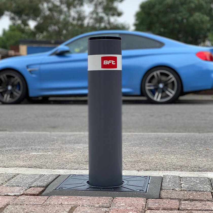 BFT Stoppy B - Easy 500 x 115 automatic rising bollard in a RAL 7015 finish