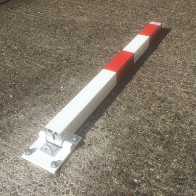 Controller-A fold down parking post in the lowered position.