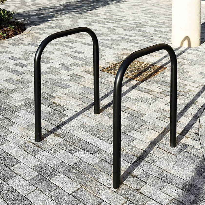 48mm tube hoop barrier in a Black powder coated finish.