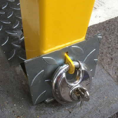 Padlock location for the Hideaway parking post