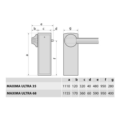 BFT - Maxima Ultra 4.0 BT automatic barrier specification