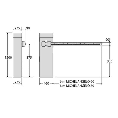 BFT - Michelangelo 6.0 BT automatic barrier specification