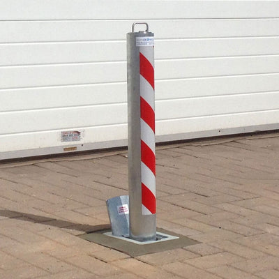 R8 anti-ram removable bollard in a galvanised finish