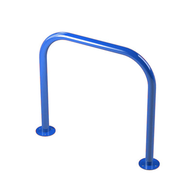 48mm tube bolt down steel hoop barrier in Blue.