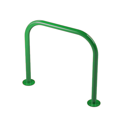 48mm tube bolt down steel hoop barrier in Green.
