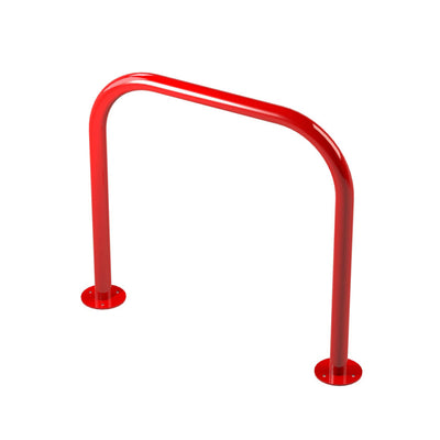 48mm tube bolt down steel hoop barrier in Red.