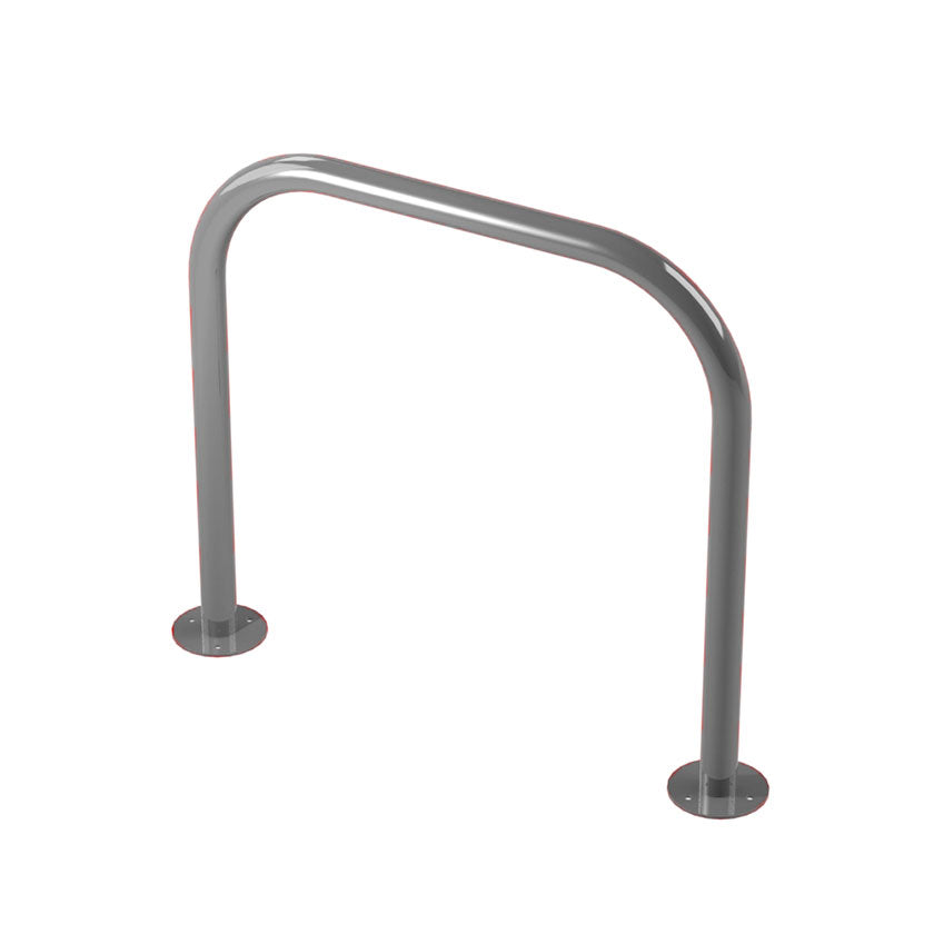 48mm tube bolt down steel hoop barrier in Silver.