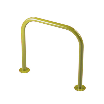 48mm tube bolt down steel hoop barrier in Yellow.