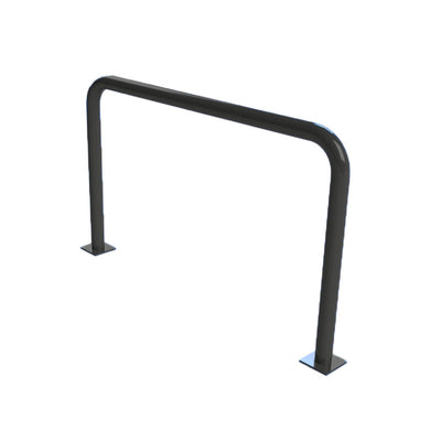 76mm steel fixed hoop barrier in a Black powder coated finish.