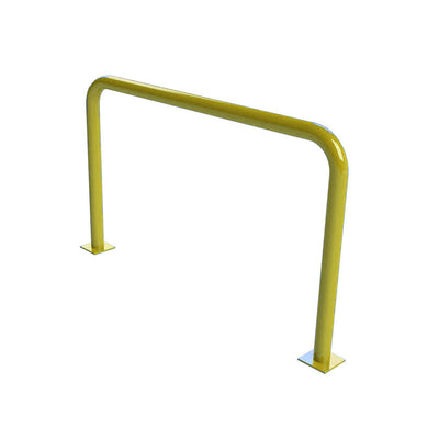 76mm steel fixed hoop barrier in a Yellow powder coated finish.
