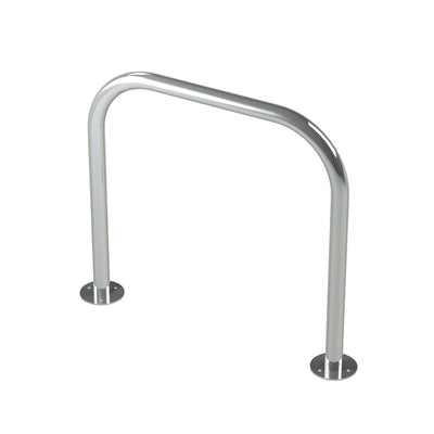 48mm tube bolt down steel hoop barrier in a stainless steel finish.