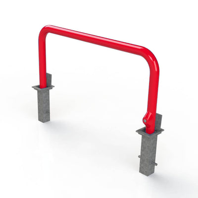 76mm tube removable hooped security barrier in Red.
